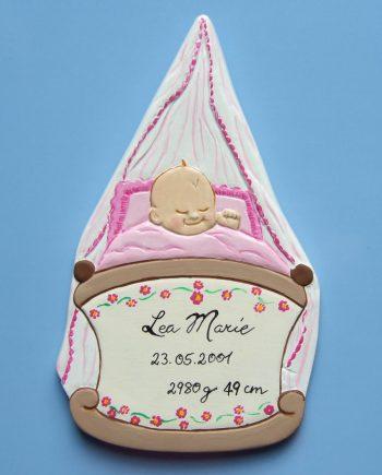 Geburtsteller, Taufteller, Geburtstafel, personalisiert, handbemalt, Geschenkidee, Geburt, Taufe